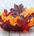 Оригинальные поделки из листьев, из листьев и желудей, листьев и цветов, листьев и шишек. Для садика и школы