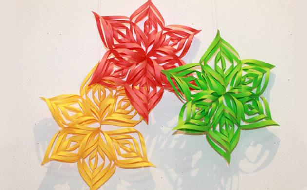 Красивые объемные снежинки из бумаги: вырезание, квиллинг и модульное оригами. Схемы и пошаговая инструкция