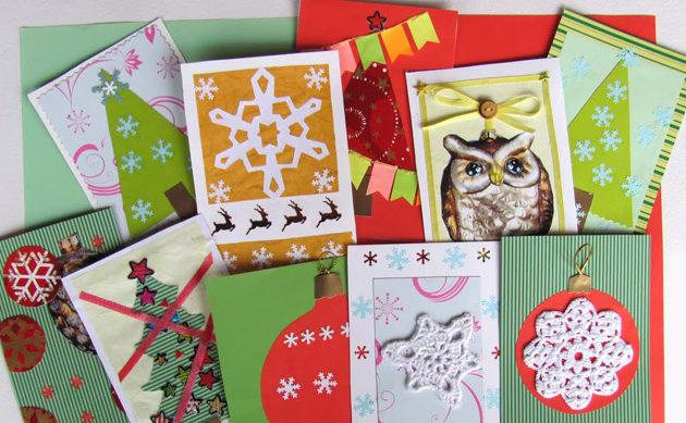 Оригинальные открытки на новый год своими руками. Примеры и схемы изготовления