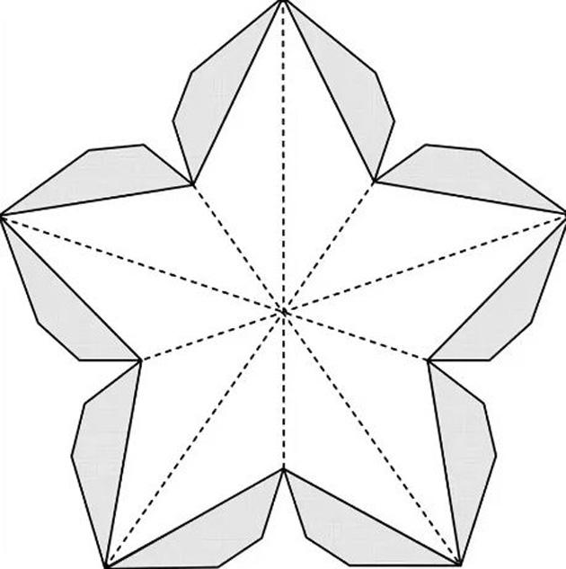 Объемная звезда на открытку к 23 февраля, картинки аву