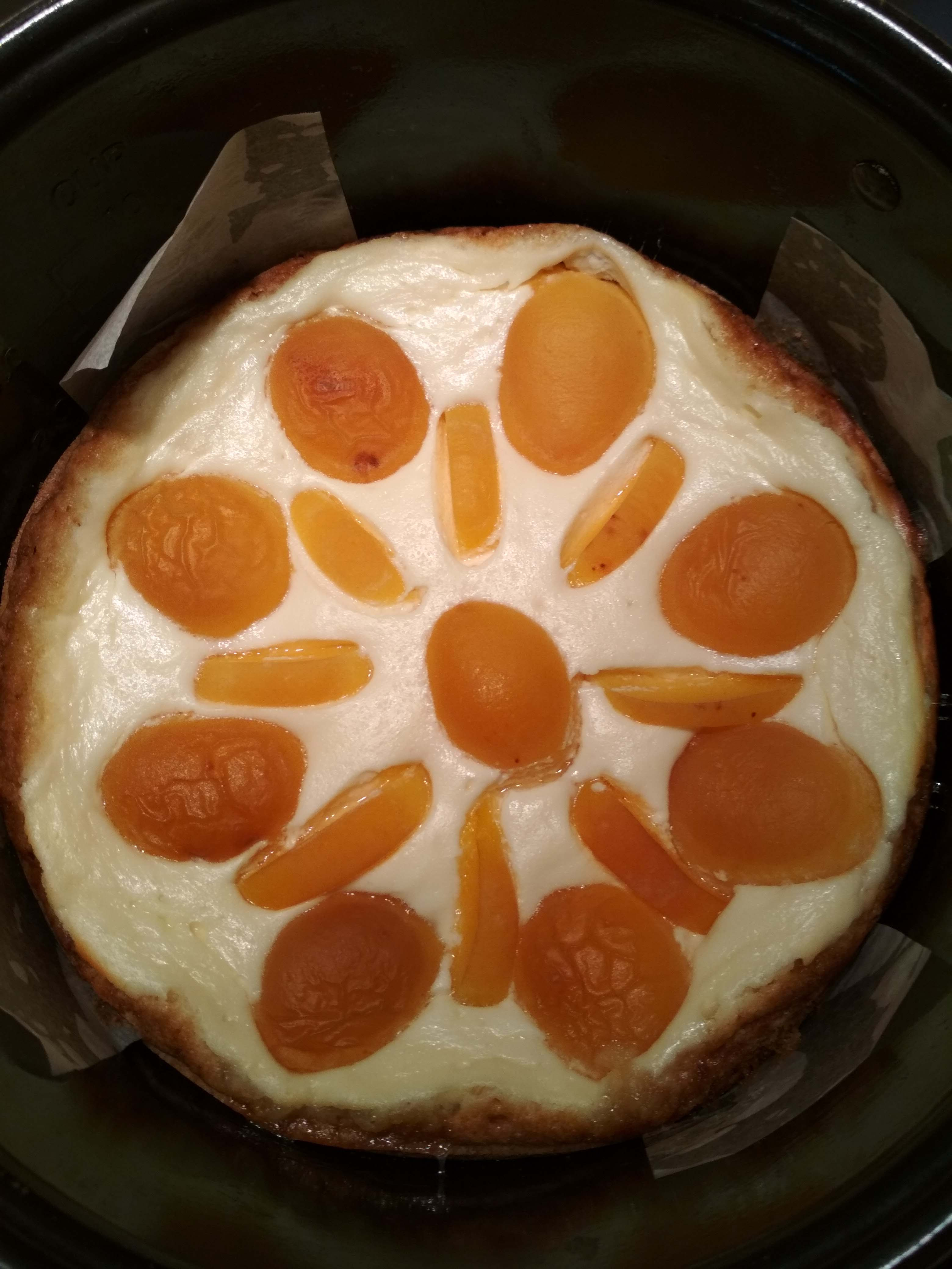 пирог из песочного теста с творогом и абрикосами